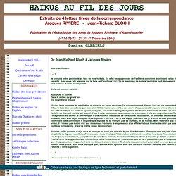 correspondance JR Bloch - J Riviere