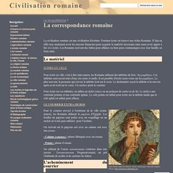 La correspondance romaine - Civilisation romaine