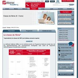 9ème (CM1) - Cours par Correspondance - Hattemer Academy