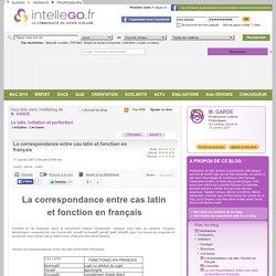 La correspondance entre cas latin et fonction en français
