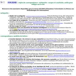 fourmi : règles de correspondance -nétiquette- usages courtois du net