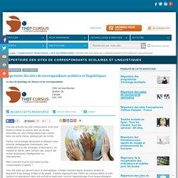 Répertoire des sites de correspondants scolaires et linguistiques