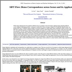 SIFT Flow: Dense Correspondence across Scenes and its Applications