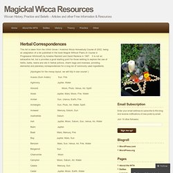Magickal Wicca Resources