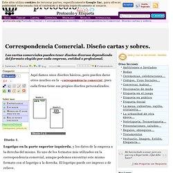 Correspondencia Comercial. Diseño cartas y sobres. - Protocolo & Etiqueta