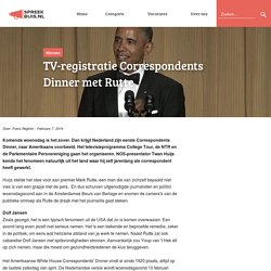 Correspondents Dinner nu ook in Nederland