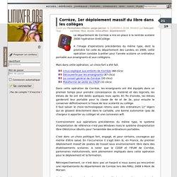 Corrèze, 1er déploiement massif du libre dans les collèges