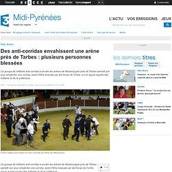 Des anti-corridas envahissent une arène près de Tarbes : plusieurs personnes blessées - France 3 Midi-Pyrénées