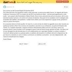 Da La prima ora del Corriere/Digital 20 dicembre 2019 Due news dal fronte che inquadrano realtà a...