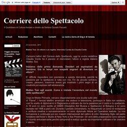 Corriere dello Spettacolo: Matteo Tosi. Un attore e un regista. Intervista Curata da Claudia Conte
