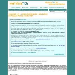 Corriger les « copies numériques » des élèves en passant par le format PDF
