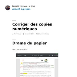 Corriger des copies numériques
