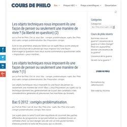 Bac Philo 2012 sujets corrigés problématisation Archives - Cours de Philo