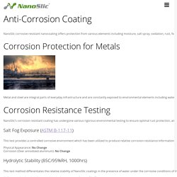 Anti-Corrosion Coating - Nanoslic Protective Ceramic Coatings