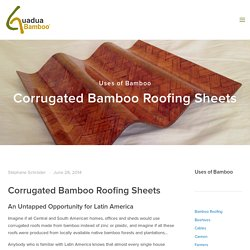 Corrugated Bamboo Roofing Sheets