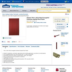 Shop Ondura 79-in x 48-in Red Corrugated Cellulose Asphalt Roof Panel at Lowes