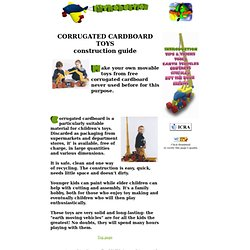 Foreword to corrugated carbord toys contruction guide