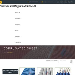 PVC, UPVC, APVC Corrugated Sheets