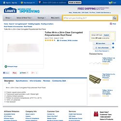 Shop Tuftex 96-in x 26-in Clear Corrugated Polycarbonate Roof Panel at Lowes