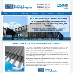 Metal, Steel & Corrugated Roofing Supplies