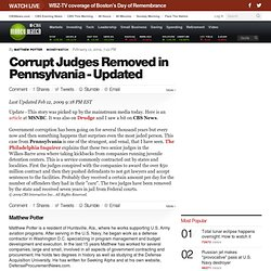 Corrupt Judges Removed in Pennsylvania - Updated
