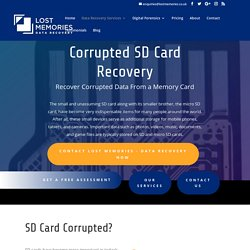 Recover Data from Corrupted SD