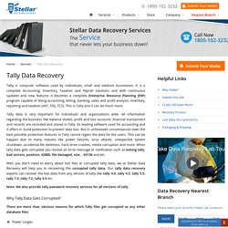 Recover Corrupted Tally Files - Tally Data Recovery Services