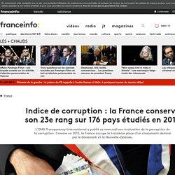 Indice de corruption : la France conserve son 23e rang sur 176 pays étudiés en 2016
