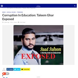 Corruption In Education: Taleem Ghar Exposed - DailyPunch.pk