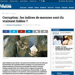Corruption : les indices de mesures sont-ils vraiment fiables ?
