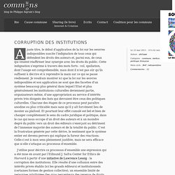 Corruption des institutions