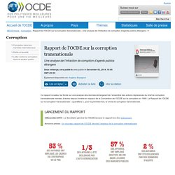 Rapport OCDE corruption transnationale dec 2014
