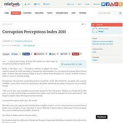 World: Corruption Perceptions Index 2011