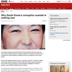 Why South Korea's corruption scandal is nothing new
