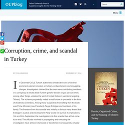 Corruption, crime, and scandal in Turkey