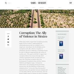 Corruption: The Ally of Violence in Mexico – Vision of Humanity