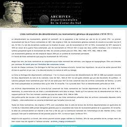recensements Corse + registres des matricules
