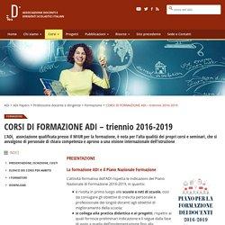 CORSI DI FORMAZIONE ADI – triennio 2016-2019 – ADi