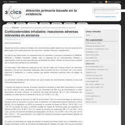 3clics - Artículos - Corticosteroides inhalados: reacciones adversas relevantes en ancianos