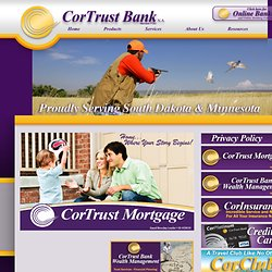 CorTrustBank.com: Community bank proudly serving South Dakota and Minnesota