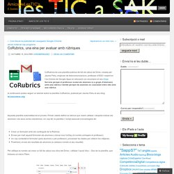 CoRubrics, una eina per avaluar amb rúbriques