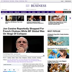 Jon Corzine Reportedly Shopped For French Chateau While MF Global Was On Verge Of Collapse