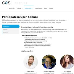 Get Involved with Open Science