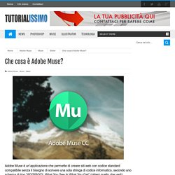 Che cosa è Adobe Muse?