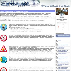 Cosa fare in caso di terremoto