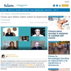 Cosas que debes saber sobre la depresión