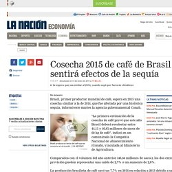 Cosecha 2015 de café de Brasil sentirá efectos de la sequía