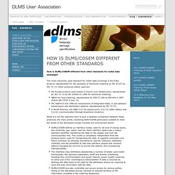 How is DLMS/COSEM different from other standards