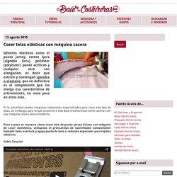 Coser telas elásticas con máquina casera
