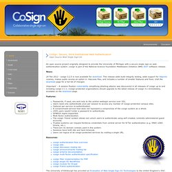 cosign: web single sign-on